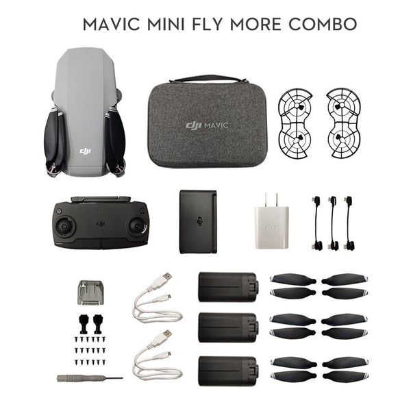 DJI Mavic Mini DJI Fly More Combo MT1SS5 Portable Drone Maximum 30 Minutes Flight Time HD Video Vision Sensor GPS Precise Hover