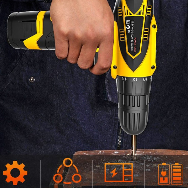 18-speed Hand Electric Drill Cordless Electric Screwdriver USB Electric Screwdriver Hand Electric Drill Power Tool Screwdriver