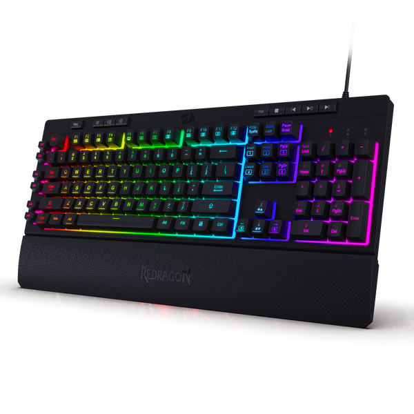 Redragon K512 Shiva RGB Backlit Membrane Gaming Keyboard with Multimedia Keys