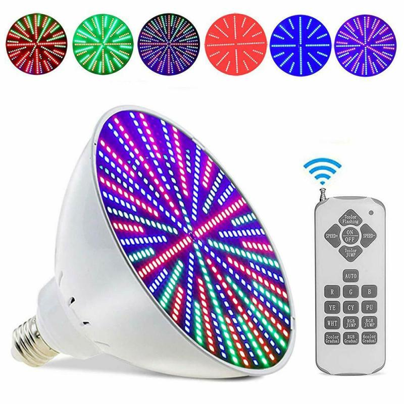 E26 Smart Lamp Holder PAR56 Swimming Pool Light Source E26-35W Remote Controlled RGB Submersible Light Professional Bulb