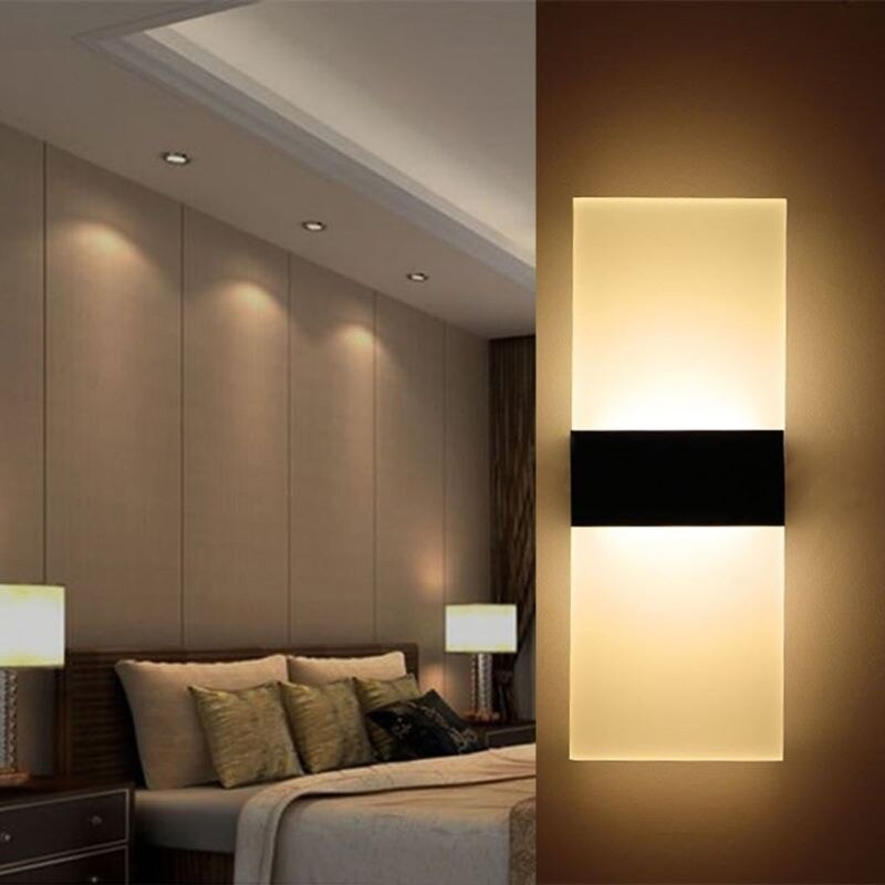 29x11cm Modern LED Wall Light 85-265V Acrylic Bedroom Bedside Light  Balcony Aisle Wall Lamp Corridor Sconce Lamp