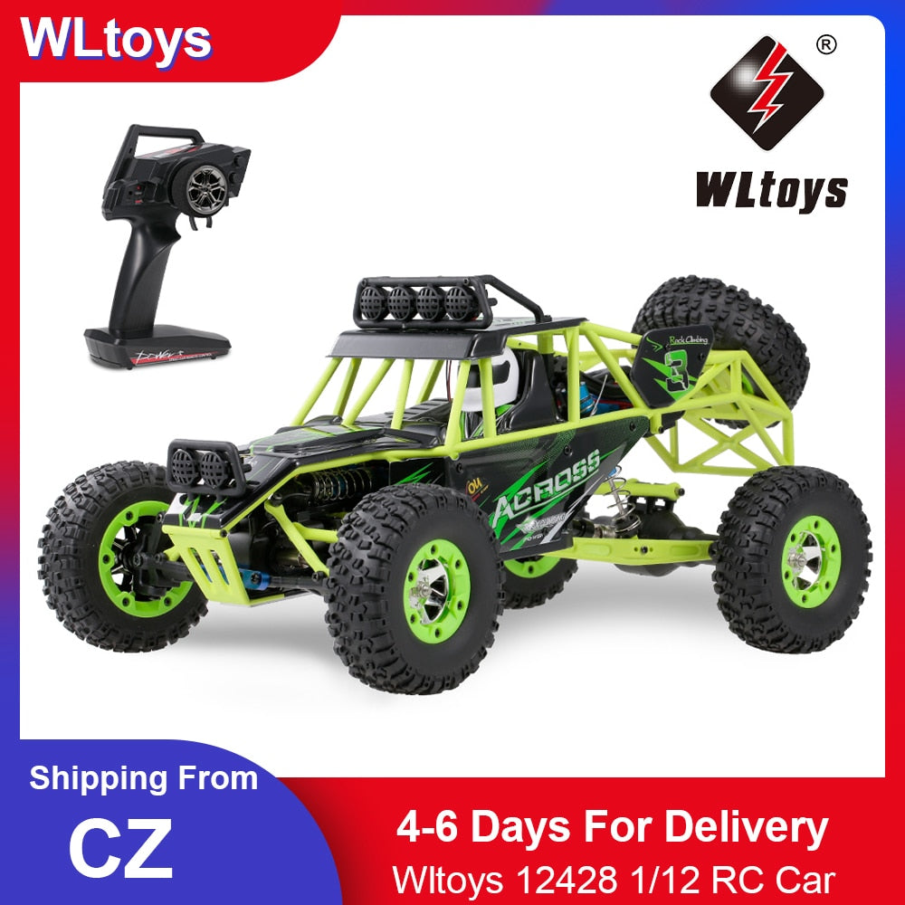 1/12 RC Car 2.4G 4WD Electric Brushed Racing Crawler RTR 50km/h High Speed Off-road