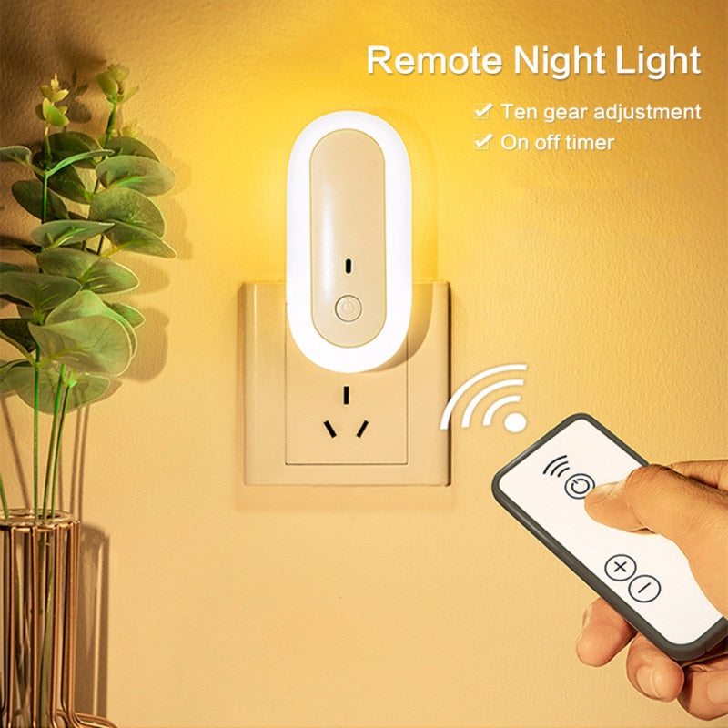 LED remote control night light With USB LED lamps soft warm white night lights