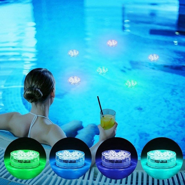 Piscine With Remote Control RGB Submersible Light Swimming Pool Light Durable LED Bulb Portable Underwater