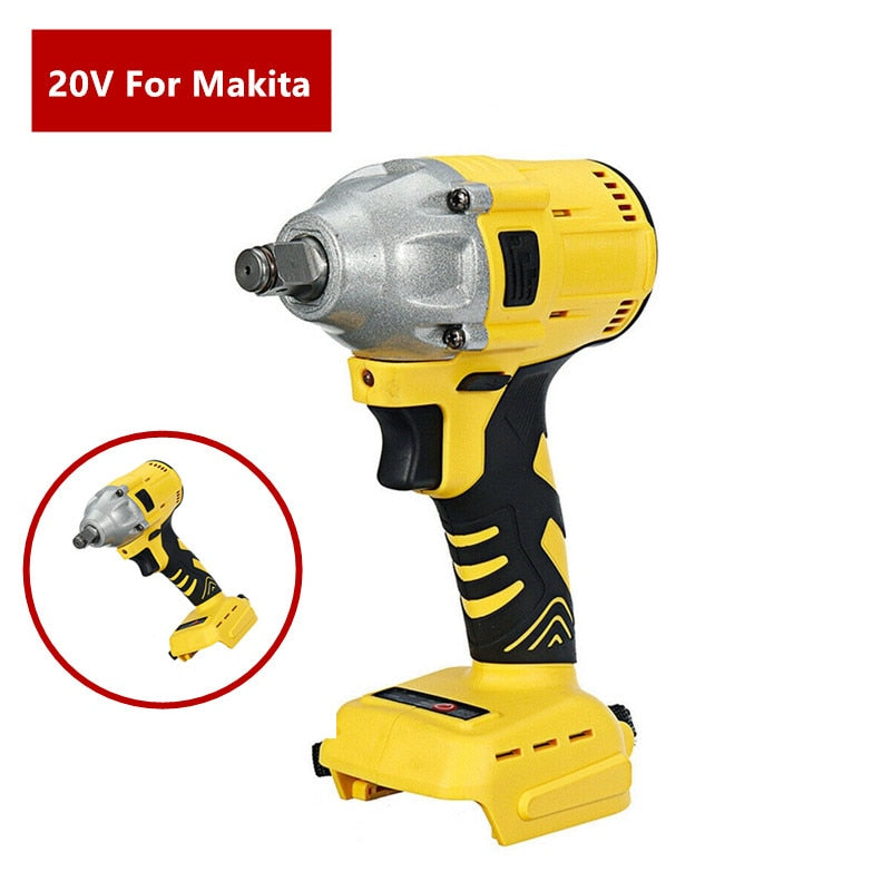 20V Brushless Electric Wrench Impact Socket Wrench 520Nm For Makita Battery Hand Drill Installation 1/2 Socket Wrench Power Tool