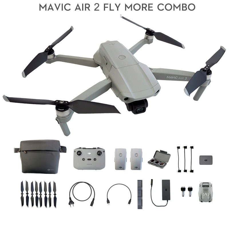 DJI Mavic Air 2 fly more combo / Mavic Air 2 drone with 34-min Flight Time 4k camera 10km 1080p Video Transmission