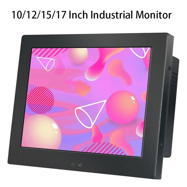 17 10 12 15 Inch Industrial LCD Display r for Tablet VGA/DVI Not Touch Screen Embedded Installation Wall Mounting