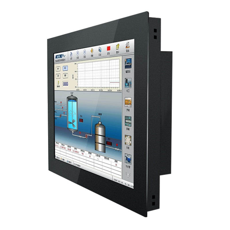 17 Inch lcd Monitor Industrial Display  VGA HDMI DVI TV Buckles Mounting 1280*1024 Not Touch Screen
