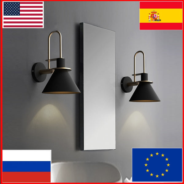 lights bedroom luces led lightings nordic wall lampara decor luz quarto mirror outdoor bathroom coiffeuse penteadeira buitenver