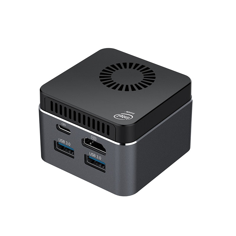 Pocket Mini PC 4 Core Intel Celeron N4100 8GB LPDDR4 128GB M.2 SSD 2,4G/5,0G WiFi Bluetooth 4,2 HDMI2.0 4K 60Hz USB-C Windows 10