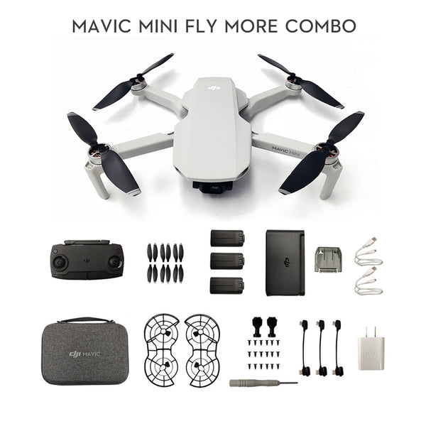 In stock DJI Mavic Mini drone with 2.7k camera is MT1SS5 FCC version flight time 30 minutes original brand new