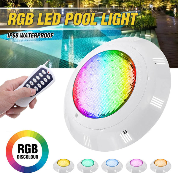 Swimming Pool Light 45W 450LED IP68 Waterproof AC/DC12V-24V Outdoor RGB UnderWater Light Pond Led Piscina Luz Spotlight