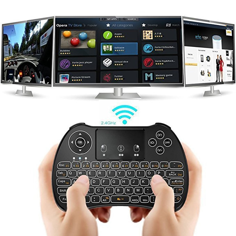 wireless mini handheld remote control keyboard air mouse For Set-Top Box smart TV PC Gaming