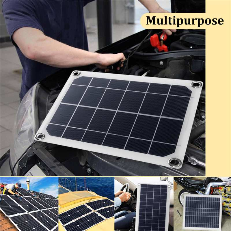 15/20/25W Mono crystalline Watts Solar Panel 0A Solar Charger + DC Line Charge