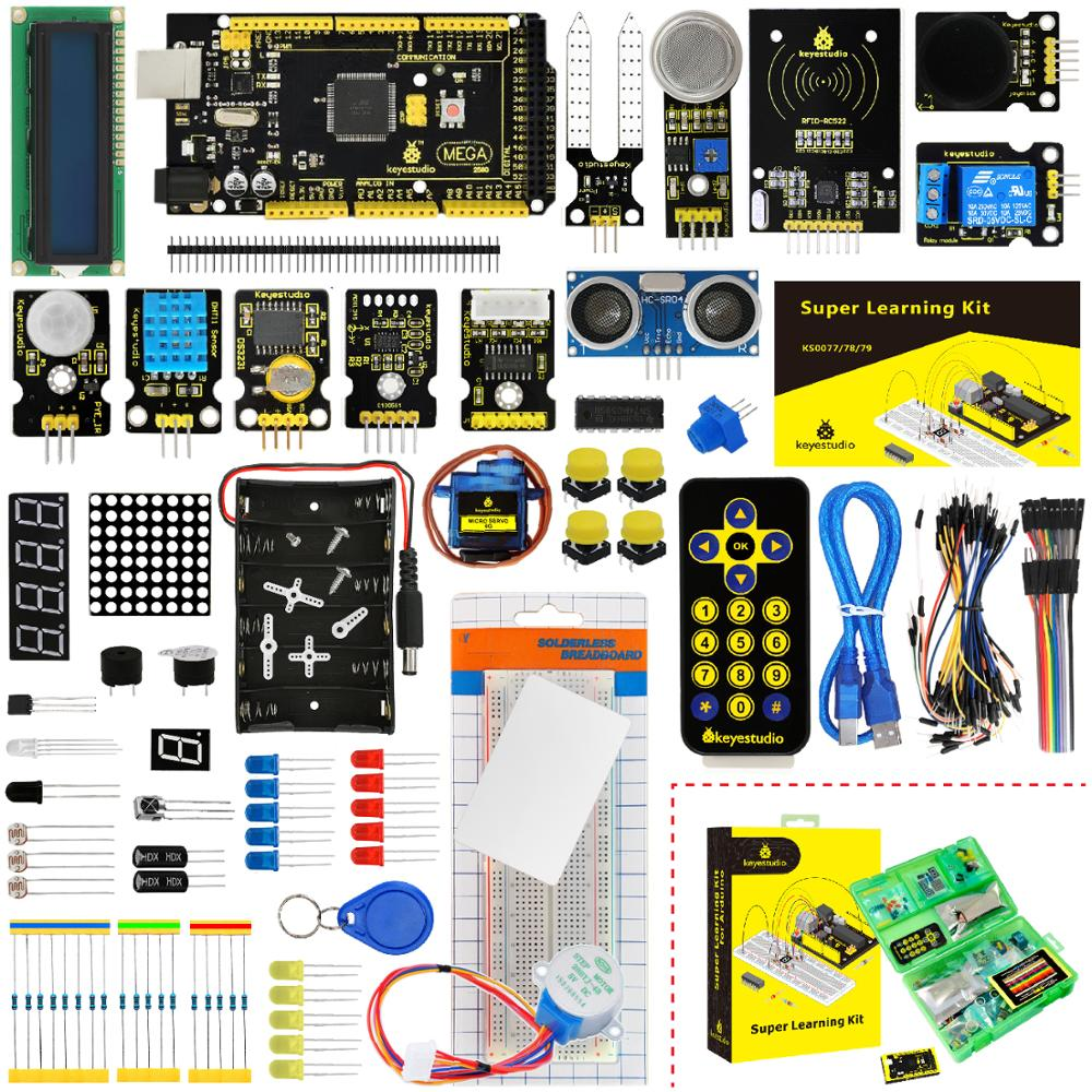 KS0079 Keyestudio Super Starter Kit/Learning Kit With Mega2560R3 For Arduino Education Project +PDF(online)+32Projects+Gift Box