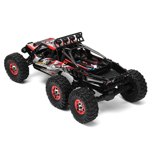 Feiyue FY06 1:12 RC Car 2.4GHz 6WD 60KM/H Off-road Desert Truck RTR LED Lights RC Vehicle Toy High Speed Outdoor Toys Gifts