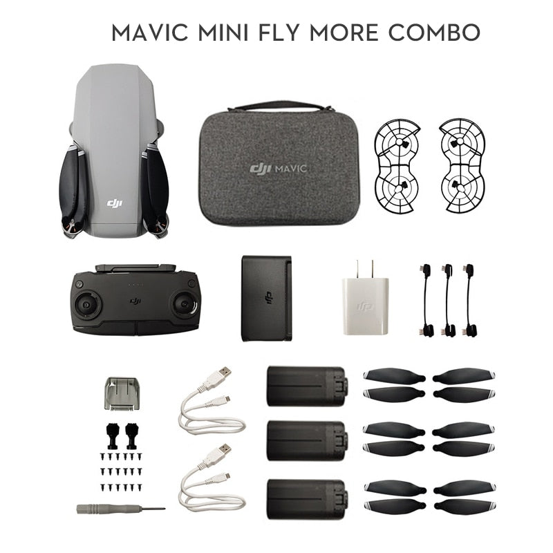 DJI Mavic Mini Fly More Combo FCC Version MT1SS5 Portable Drone Maximum 30 Minutes Flight Time HD Video brand new in stock