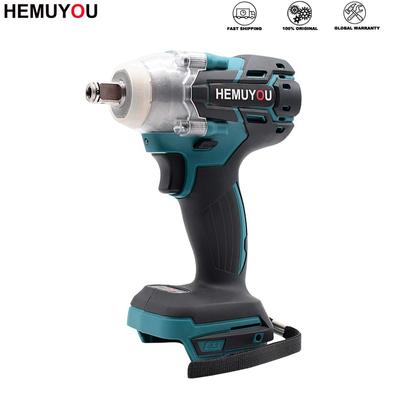 21V Electric Wrench Brushless Impact Socket Wrench Rechargeable Cordless Hand Drill Power Tool Suitable For Makita Battery