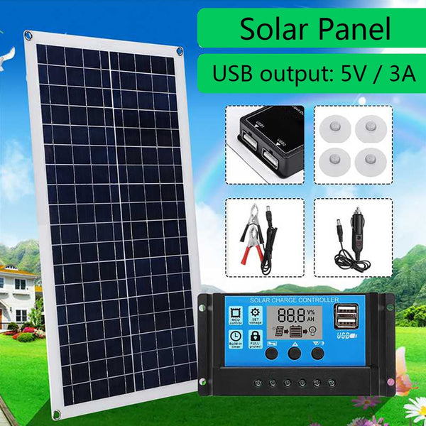 35W 10A 20A 40A Solar Charger Controller LCD Display PWM Controllers Double USB Panel  Set