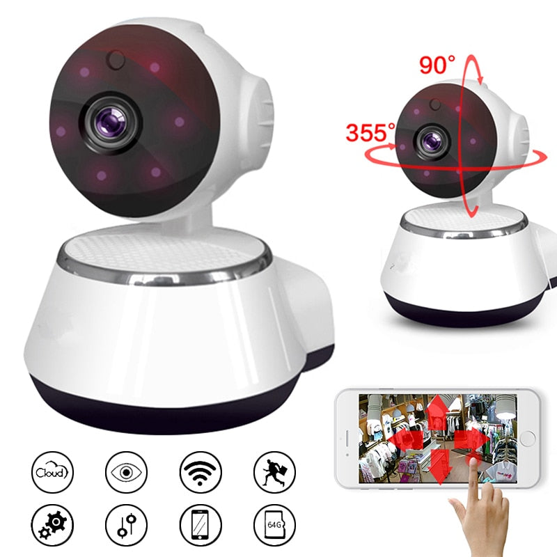 1pc Wireless Camera 720P HD Wireless IP Camera Home Smart WiFi Camera Audio CCTV Camera Motion Sensor Alarm Push US EU