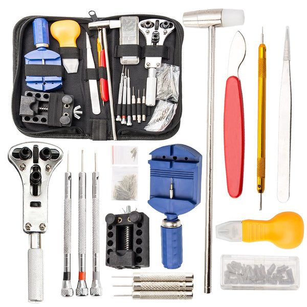 147pcs Watch Repair Tool Kit Watch Case Opener Link Remover Screwdriver