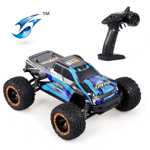 Linxtech 16889A 1/16 RC Car 45km/h Brushless Motor 4WD RC Race Truck Car Big Foot Off Road Car Toys Kid Strong Shock Absorber