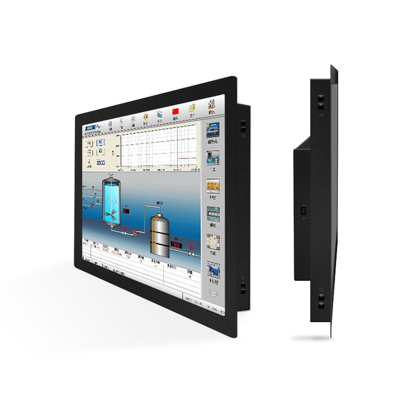 "19"" VGA HDMI DVI Interface Metal Frame Buckles Fixed  WideScreen Monitor Resistance touch Screen"