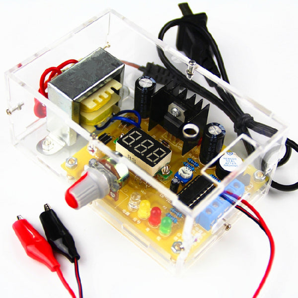 DIY Kit LM317 Adjustable Regulated Voltage 1.20V-12V 2W Power Supply Module PCB Board Electronic Kits with Shell