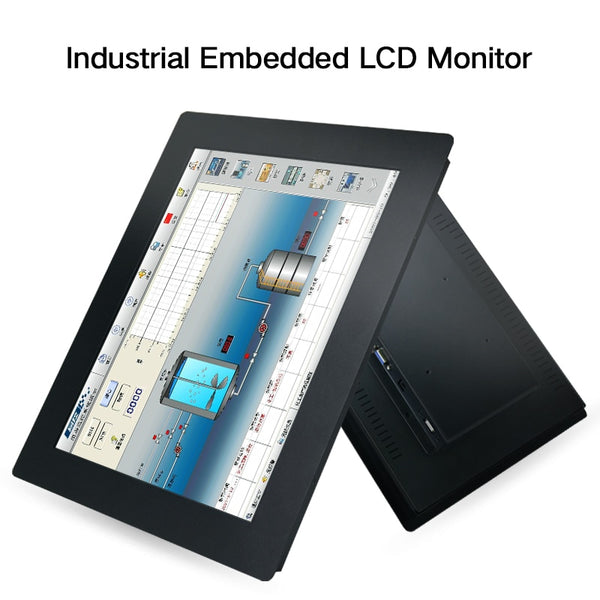 19 21.5 23.6 Inch Industrial Display LCD Screen Monitor For Tablet VGA HDMI USB Resistance Touch Screen Embedded installation