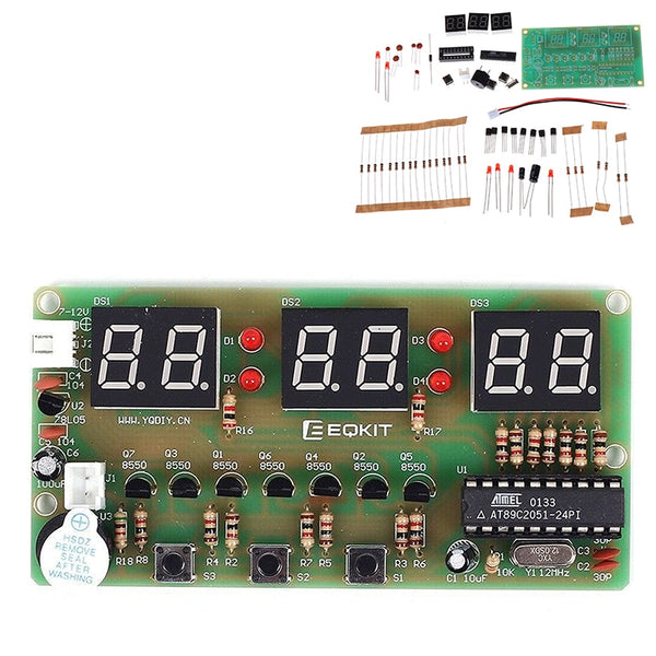 C51 Digital Electronic Clock Suite DIY Kits Six 6 Bits Electronic Parts and Components Electronic Production