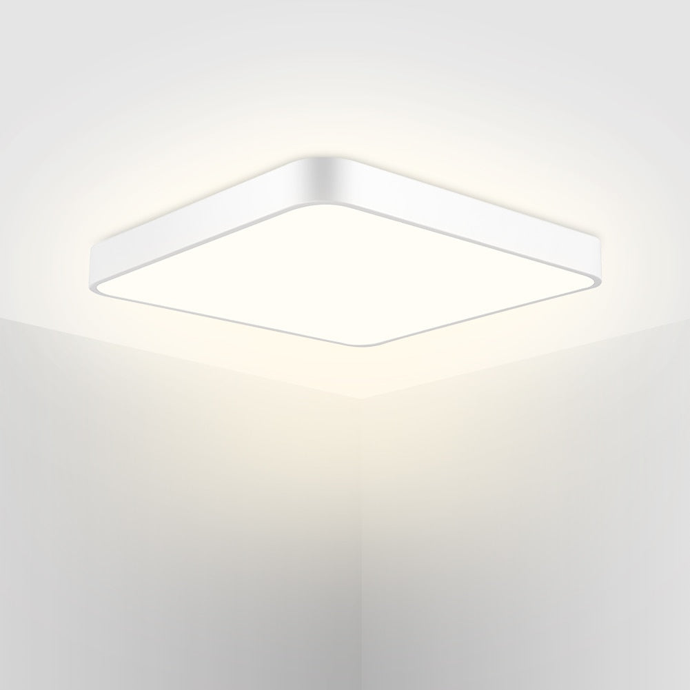 Home LED Ultra-Thin Ceiling Lamp Square Warm White Light 110V For Bathroom Bedroom Kitchen Living Room 1440LM