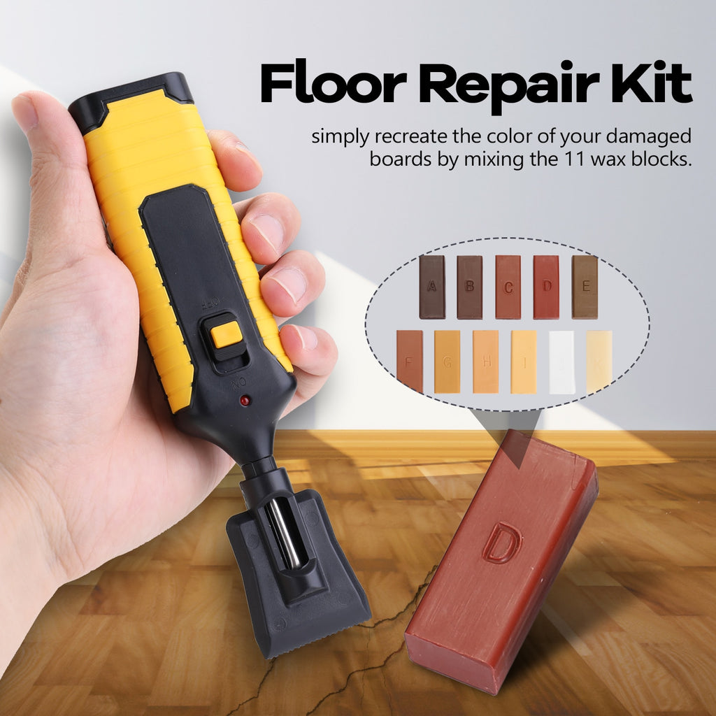 Laminate Kit Wax System Floor Worktop Flooring Kitchen Casing Chips Scratches Mending Tool Set