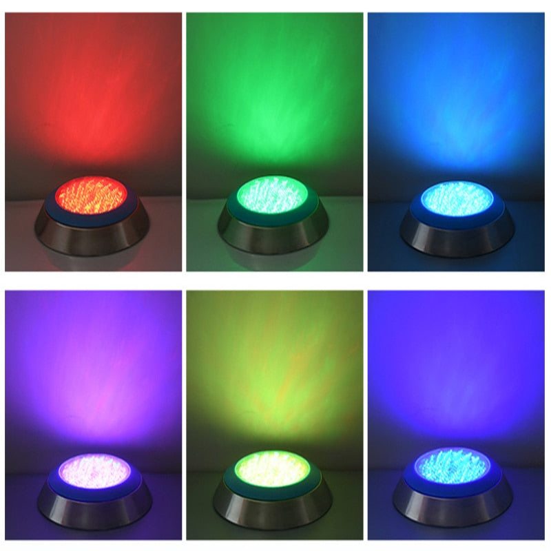 Swimming Pool Light RGB Surface Mounted LED Underwater Lights Stainless Steel Fountain Lamp Pond Lamps View Pool Wall