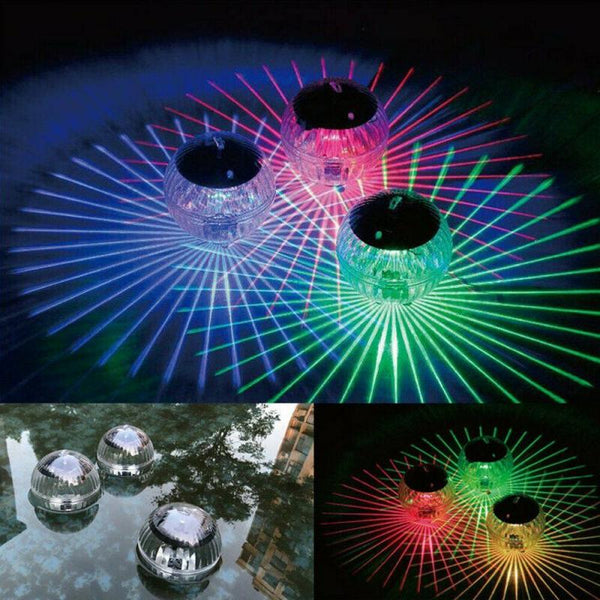 Outdoor Floating Underwater Ball Lamp LED Solar Powered Color Changing Swimming Pool Party Night Light For Yard Pond Garden