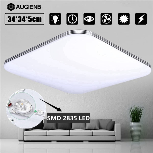 AUGIENB 1600LM 16W LED Ceiling Lights Modern Lamp Living Room Lighting Fixture Bedroom Kitchen Surface Mount Flush Panel