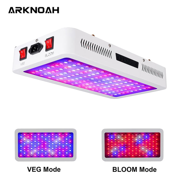 ARKNOAH Led Grow Light 1500W Full Spectrum Double Chip For Indoor Tent Greenhouses Hydroponics Plants Growth Lamps