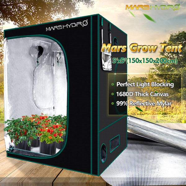 Mars Hydro150X150X200cm Grow Tent 1680D Water-proof Non-toxic reflective material for Indoor Growing System plant room garden