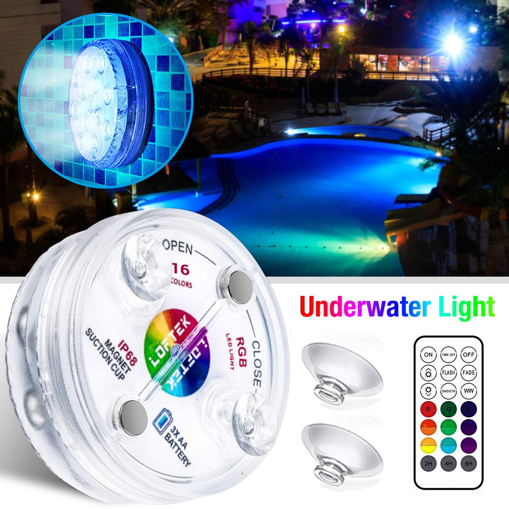 Underwater Light LED RGB Submersible Swimming Pool Lamp