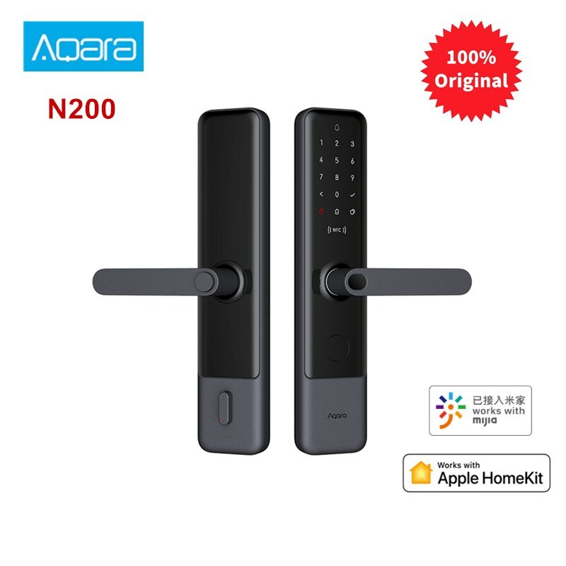 Smart Door Lock Fingerprint Bluetooth Password NFC Unlock Works With Doorbell