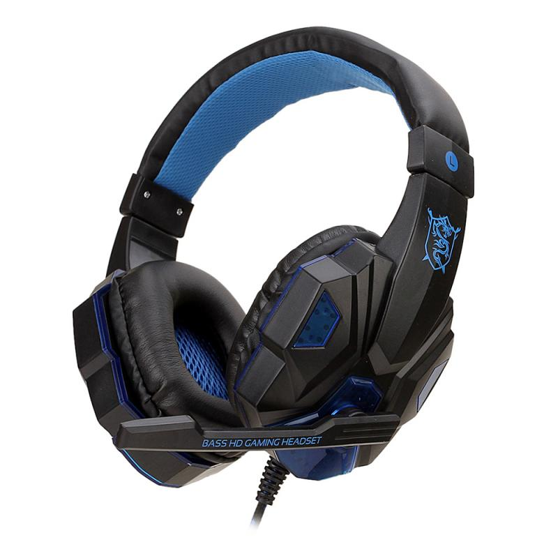 Gaming Headsets Big Headphones With Light Mic Stereo Earphones