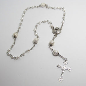 Kelly's Baptism Shell Prayer Beads