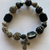Lynn's Black Cross Bead Bracelet