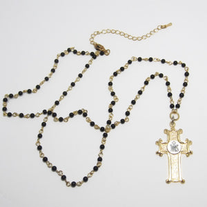 Kelly's IHS cross necklace
