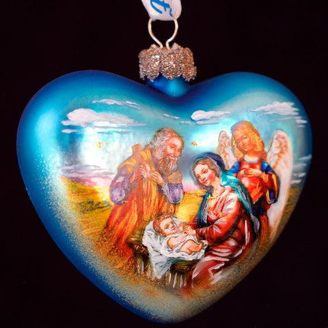 G. DeBrekht Nativity Heart Ornament
