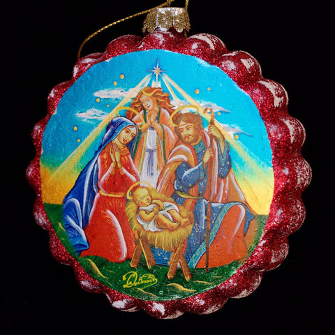 G. DeBrekht Nativity Flower Ornament