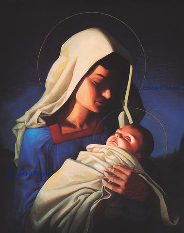 Edward Riojas' Madonna and Child