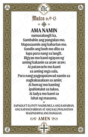 Ad Crucem Lord's Prayer Poster - Any Language