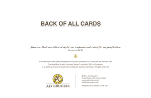 Ad Crucem Christmas Card Good News of Great Joy!