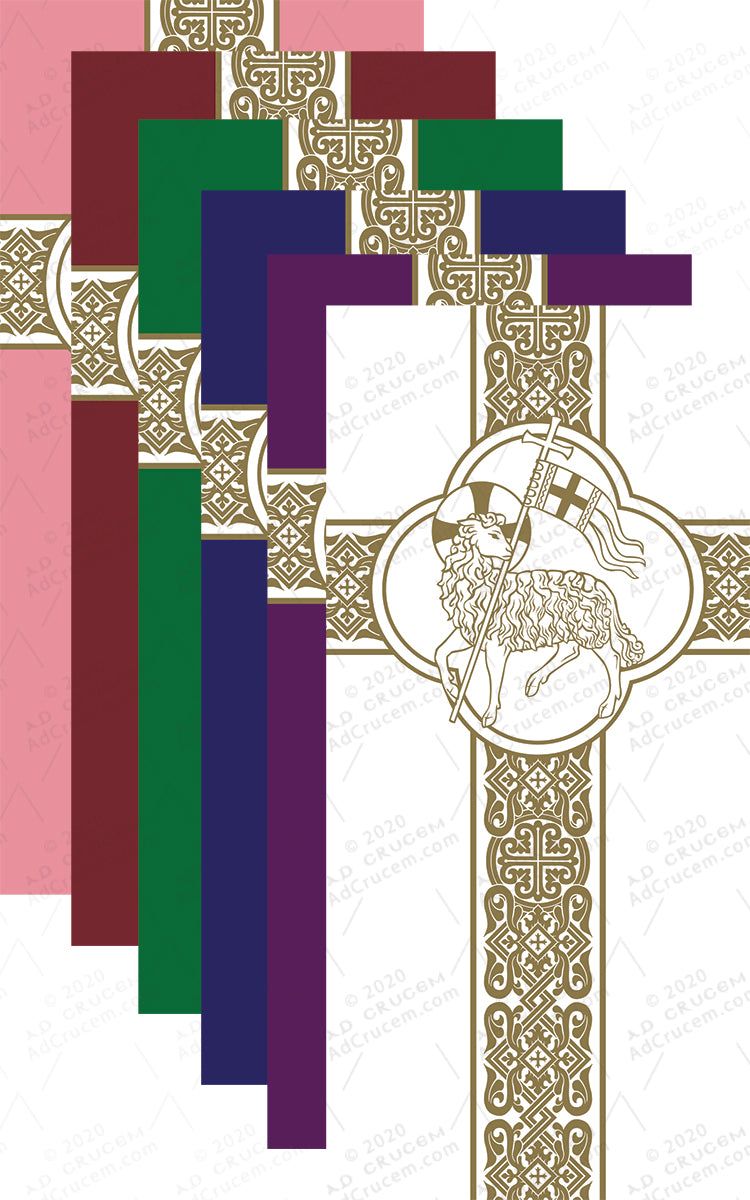 Ad Crucem Agnus Dei Seasonal Banners Complete Set of 14