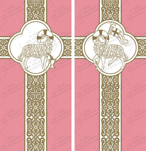 Ad Crucem Agnus Dei Gaudete Banners Set of Two